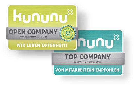 Kununu-Siegel Open Company und Top Company