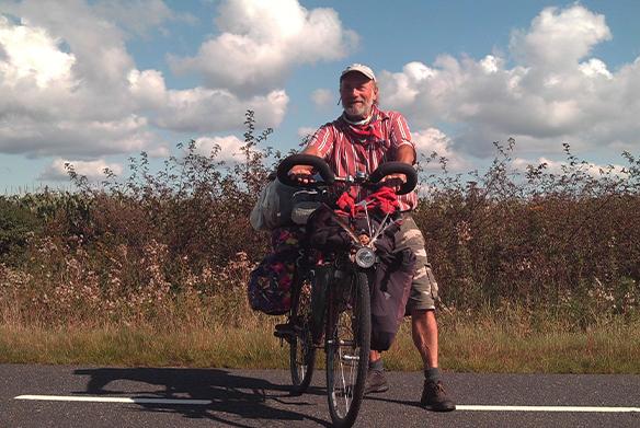 Herr Jilg auf Reisen mit seinem Fahrrad